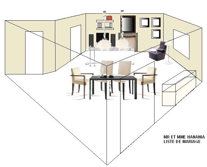 liste de mariage hanania chez ligne roset cinna le s jour. Black Bedroom Furniture Sets. Home Design Ideas